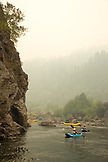 USA, Oregon, Wild and Scenic Rogue River in the Medford District, kayaking near Kelsey's Creek