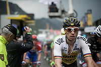 Robert Wagner (DEU/LottoNL-Jumbo) rolling in at the finish line<br /> <br /> finish of stage 9 in Andorra Arcalis (coming from Velha Val d'Aran/ESP, 184km)<br /> 103rd Tour de France 2016