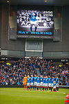 07.04.2018: Rangers v Dundee:<br /> Minutes silence for Ray Wilkins