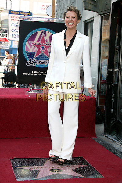 ANNETTE BENING .Annette Bening Honered with Star on the Hollywood Walk of Fame, Hollywood, California, USA..November 10th, 2006.Ref: ADM/BP.full length white suit trousers jacket.www.capitalpictures.com.sales@capitalpictures.com.©Byron Purvis/AdMedia/Capital Pictures.