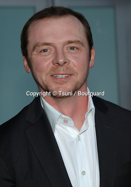 Simon Pegg @<br /> Run Fat Boy, Run Premiere at the Arclight Theatre In Los Angeles.<br /> <br /> headshot<br /> eye contact<br /> smile