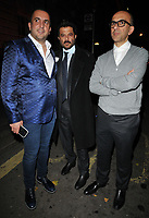 Anil Kapoor (centre) and guests out &amp; about, spotted leaving Annabel's restaurant, Berkeley Square, London, England, UK, on Tuesday 06 November 2018.<br /> CAP/CAN<br /> &copy;CAN/Capital Pictures