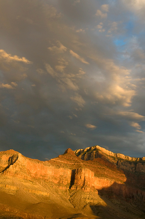 Swirling storms and golden light on Yaki Point. <br />