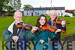 Patrick Slattery, Caoimhe Flannery and Matt Granitch at the World Fiddle day concert in Scartaglen on Friday night