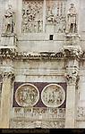 Arch of Constantine 315 AD Aurelian Reliefs North Side right Largess Interrogation Roundels Lion Hunt Sacrifice Via Triumphalis Rome