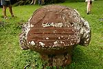 Village of Puamau. Tiki  megalithic . Island of Hiva Oa<br /> Village de Puamau Tiki megalithique de Puamau.  Ile  d'Hiva Oa