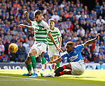 01.09.2019 Rangers v Celtic: Jermain Defoe goes close