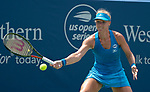 August  18, 2018:  Kiki Bertens (NED) defeated Petra Kvitova (CZE) 3-6, 6-4, 6-2, at the Western & Southern Open being played at Lindner Family Tennis Center in Mason, Ohio. ©Leslie Billman/Tennisclix/CSM