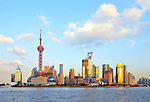 Skyline of Shanghai, China.