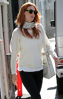 Fierce new 'do! January Jones shows off her new haircolor and apparently new hair extensions after leaving a hair salon in West Hollywood. Los Angeles, California on 20.06.2012.Credit: Vida/face to face /MediaPunch Inc. ***Online Only for USA Weekly Print Magazines*** NORTEPOTO.COM<br />