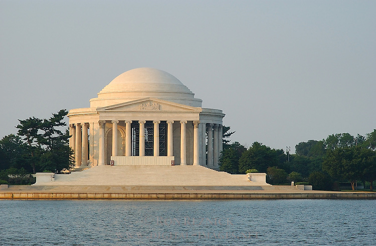 Jefferson Memorial at Sunrise, Potomac Tidal Basin, Washington DC