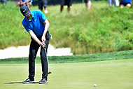 Bethesda, MD - July 1, 2018: Kyle Stanley sinks a putt on the 7th hole during final round of professional play at the Quicken Loans National Tournament at TPC Potomac at Avenel Farm in Bethesda, MD.  (Photo by Phillip Peters/Media Images International)