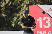 Julian Suri (USA) in action on the 13th during Round 1 of the Hero Indian Open at the DLF Golf and Country Club on Thursday 8th March 2018.<br /> Picture:  Thos Caffrey / www.golffile.ie<br /> <br /> All photo usage must carry mandatory copyright credit (&copy; Golffile | Thos Caffrey)