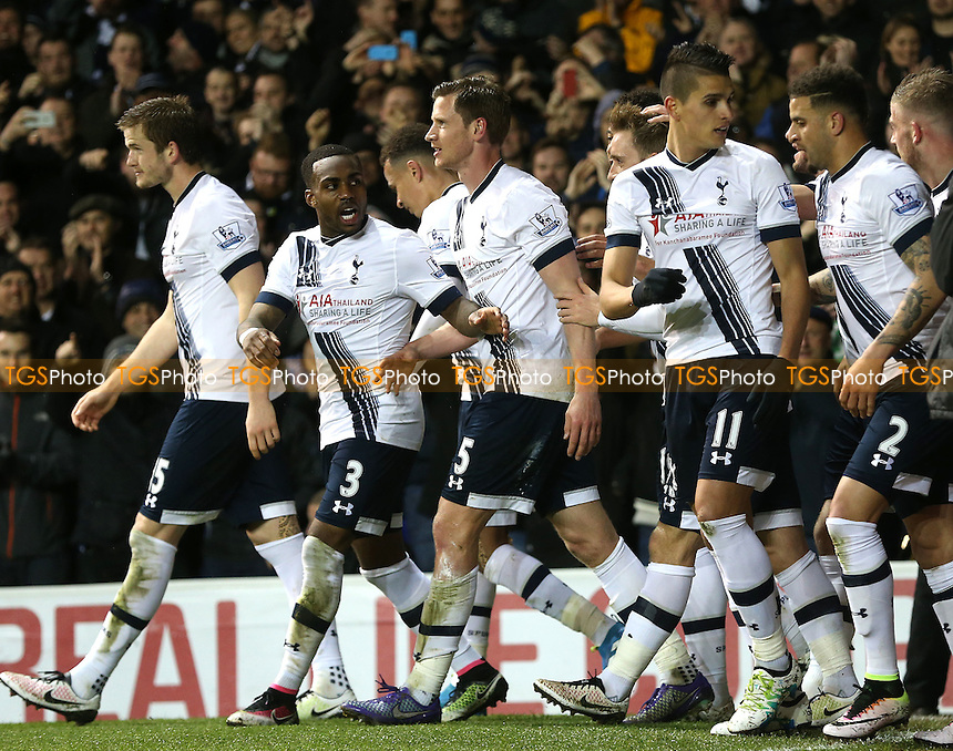 Spurs celebrates scoring the opening goal during Tottenham Hotspur vs West Bromwich Albion, Barclays Premier League Football at White Hart Lane on 25th April 2016