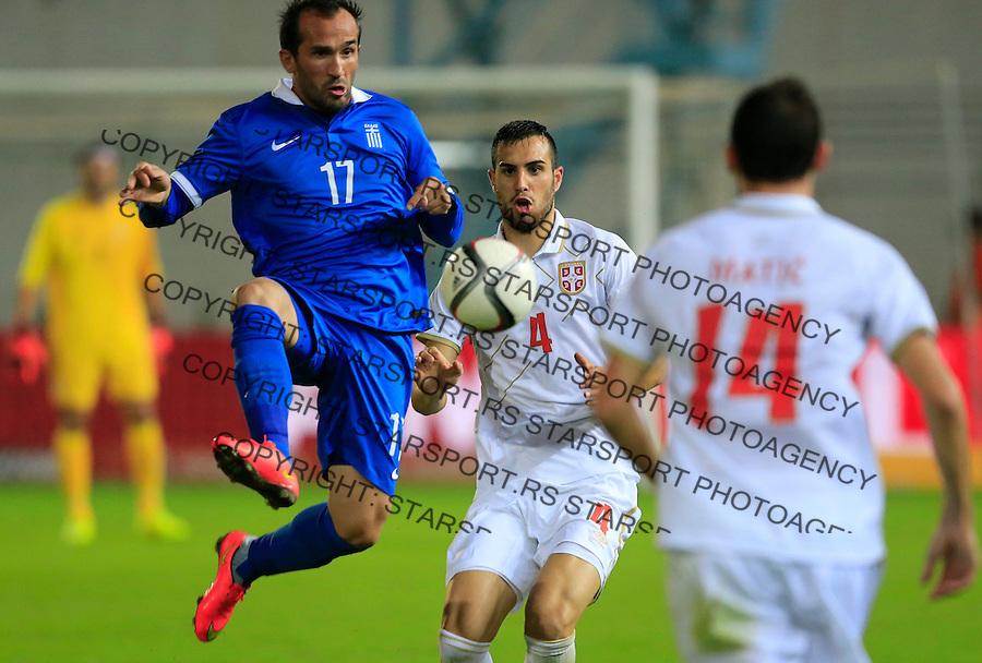 Fudbal<br /> Prijateljski mec-Friendly match<br /> Srbija v Grcka<br /> Theofanis Gekas<br /> Chania, 17.11.2014.<br /> foto: Srdjan Stevanovic/Starsportphoto &copy;