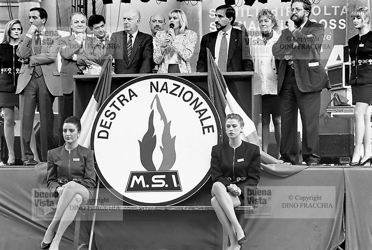 - Milan, fest of MSI party (Italian Social Movement)....- Milano, festa del MSI (Movimento Sociale Italiano)..