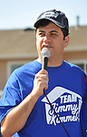 PACOIMA, CA. - October 10: Jimmy Kimmel speaking at The 2009 American Dream Walk To Benefit Habitat For Humanity at Lowe's Home Improvement on October 10, 2009 in Pacoima, California.