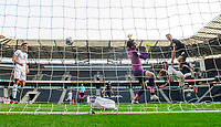 Lincoln City's Tom Hopper scores his side's second goal<br /> <br /> Photographer Chris Vaughan/CameraSport<br /> <br /> The EFL Sky Bet League One - Milton Keynes Dons v Lincoln City - Saturday 19th September 2020 - Stadium MK - Milton Keynes<br /> <br /> World Copyright © 2020 CameraSport. All rights reserved. 43 Linden Ave. Countesthorpe. Leicester. England. LE8 5PG - Tel: +44 (0) 116 277 4147 - admin@camerasport.com - www.camerasport.com