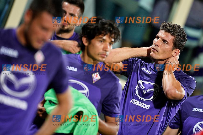 Mario Gomez (R) Fiorentina <br /> Firenze 29-08-2013 Stadio Artemio Franchi <br /> Football Calcio Europa League Play-Offs<br /> Fiorentina - Grasshoppers <br /> Foto Andrea Staccioli Insidefoto