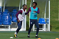 Nathaniel Chalobah and Ryan Bertrand during the part open training session of the  England national football squad at St George's Park, Burton-Upon-Trent, England on 31 August 2017. Photo by James Williamson.