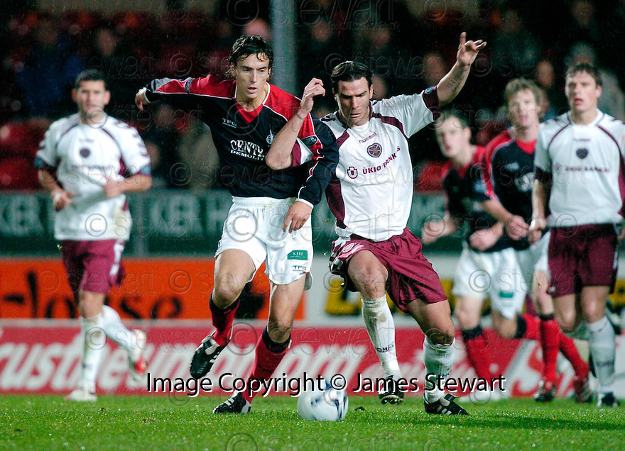 13/11/2006       Copyright Pic: James Stewart.File Name :sct_jspa02_falkirk_v_hearts.ALAN GOW AND JULIEN BRELLIER.James Stewart Photo Agency 19 Carronlea Drive, Falkirk. FK2 8DN      Vat Reg No. 607 6932 25.Office     : +44 (0)1324 570906     .Mobile   : +44 (0)7721 416997.Fax         : +44 (0)1324 570906.E-mail  :  jim@jspa.co.uk.If you require further information then contact Jim Stewart on any of the numbers above.........