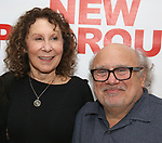 "Rhea Perlman and Danny Devito attends The New Group presents the New York Premiere Opening Night of David Rabe's for ""Good for Otto"" on March 8, 2018 at the Green Fig Urban Eatery,  in New York City."