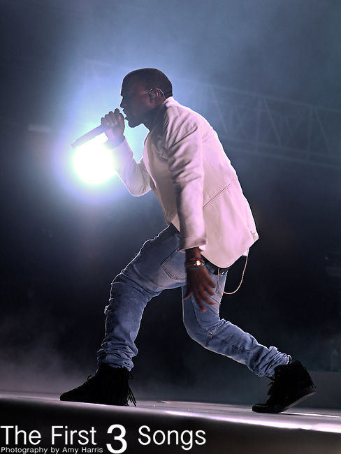 Kanye West performs at the 2011 Essence Music Festival on July 2, 2011 in New Orleans, Louisiana at the Louisiana Superdome.