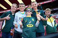 Young fans during the 2018 Castle Lager Incoming Series 1st Test match between South Africa and England at Emirates Airline Park,<br /> Johannesburg.South Africa. 09,06,2018 Photo by (Steve Haag Sports)