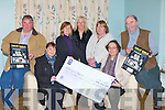 "CALENDAR: On Friday evening  at The Recovery Havan 5,Haigs Terrace, Tralee Kelly Reidy with Ann Talbot who presented a cheque of EUR5,000 to Nicole Ryan (manager of thye centre) the money which was raised by selling calendars in 2010, L-r: Raymond Sugrue, Kelly Reidy, Vera Sugrue, Ann Talbot,Sheila Fitzgerald, Nicole Ryan(manager) and Robert ""Barney"" Barnes.......... . ............................... .........."