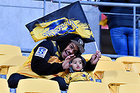 Fans during the Super Rugby - Hurricanes v Highlanders at Westpac Stadium, Wellington, New Zealand on Friday 8 March 2019. <br /> Photo by Masanori Udagawa. <br /> www.photowellington.photoshelter.com