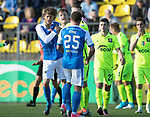 FK Trakai v St Johnstone&hellip;06.07.17&hellip; Europa League 1st Qualifying Round 2nd Leg, Vilnius, Lithuania.<br />Murray Davidson clashes with Justinas Janusdevskji<br />Picture by Graeme Hart.<br />Copyright Perthshire Picture Agency<br />Tel: 01738 623350  Mobile: 07990 594431