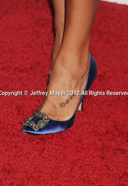 "WEST HOLLYWOOD, CA - OCTOBER 09: Dania Ramirez (shoe detail) at the Tacori Productions New ""City Lights"" Fall/Winter 2012 Collection Launch Party at The Lot Studio on October 9, 2012 in West Hollywood, California."