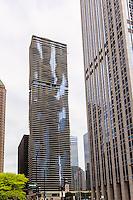 Usa, illinois,Chicago, Aqua skycraper designed by  Jeanne Gang