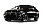 Stock pictures of low aggressive front three quarter view of 2019 BMW X2 M35 5 Door SUV Low Aggressive