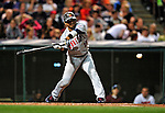 4 September 2009: Minnesota Twins' shortstop Orlando Cabrera in action against the Cleveland Indians at Progressive Field in Cleveland, Ohio. The Indians defeated the Twins 5-2 to take the first game of their three-game weekend series. Mandatory Credit: Ed Wolfstein Photo