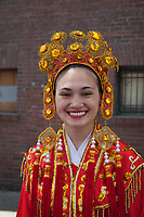 Close-up Portrait, Chinese Girls Drill Team, Dragon Fest 2015, Chinatown, Seattle, Washington, USA