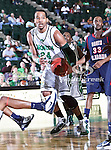 North Texas Mean Green forward Kedrick Hogans (24) in action during the NCAA  basketball game between the South Alabama Jaguars and the University of North Texas Mean Green at the North Texas Coliseum,the Super Pit, in Denton, Texas. UNT defeated South Alabama 82 to 79...