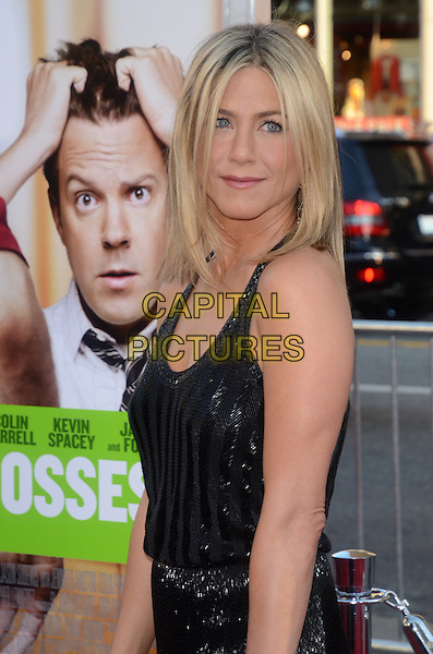 Jennifer Aniston.'Horrible Bosses' premiere at Grauman's Chinese Theatre, Los Angeles, California, USA 30th June 2011.half length black dress.CAP/ADM/TW.©Tonya Wise/AdMedia/Capital Pictures.