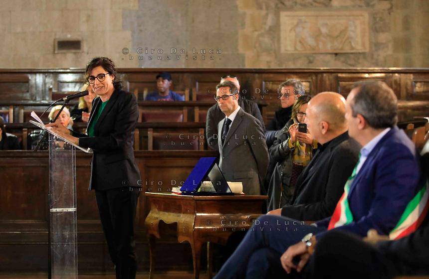 Cittadinanza onoraria di Napoli al regista  Ferzan Ozpetek. Nella foto con Luigi de Magistris sindaco di Napoli o Luisa Ranieri