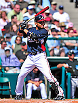 13 March 2010: Atlanta Braves' infielder Omar Infante in action during a Spring Training game against the Toronto Blue Jays at Champion Stadium in the ESPN Wide World of Sports Complex in Orlando, Florida. The Blue Jays shut out the Braves 3-0 in Grapefruit League action. Mandatory Credit: Ed Wolfstein Photo