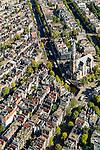 Nederland, Noord-Holland, Amsterdam, 27-09-2015; Prinsengracht met rondvaartboten, Westerkerk op de Westermarkt. Naast de kerk Anne Frankhuis met rij wachtende museumbezoekers. Raadhuisstraat.<br /> Prinsengracht with canal cruises, Annne Frank house with queue of visitors.  <br /> luchtfoto (toeslag op standard tarieven);<br /> aerial photo (additional fee required);<br /> copyright foto/photo Siebe Swart