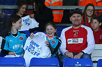 Fleetwood Town fans before the kick-off<br /> <br /> Photographer Stephen White/CameraSport<br /> <br /> The EFL Sky Bet League One - Oldham Athletic v Fleetwood Town - Saturday 8th April 2017 - SportsDirect.com Park - Oldham<br /> <br /> World Copyright &copy; 2017 CameraSport. All rights reserved. 43 Linden Ave. Countesthorpe. Leicester. England. LE8 5PG - Tel: +44 (0) 116 277 4147 - admin@camerasport.com - www.camerasport.com