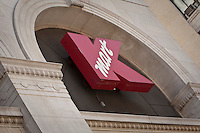 """A KMart store is pictured in New York City, NY Thursday August 4, 2011. Kmart, sometimes styled as """"K-Mart,"""" is a chain of discount department stores."""