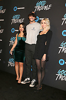"LOS ANGELES - JAN 8:  Cierra Ramirez, Noah Centineo, Maia Mitchell at the ""Good Trouble"" Premiere Screening at the Palace Theater on January 8, 2019 in Los Angeles, CA"