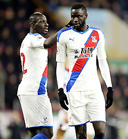 Crystal Palace's Mamadou Sakho (left) and Cheikhou Kouyate<br /> <br /> Photographer Rich Linley/CameraSport<br /> <br /> The Premier League - Burnley v Crystal Palace - Saturday 30th November 2019 - Turf Moor - Burnley<br /> <br /> World Copyright © 2019 CameraSport. All rights reserved. 43 Linden Ave. Countesthorpe. Leicester. England. LE8 5PG - Tel: +44 (0) 116 277 4147 - admin@camerasport.com - www.camerasport.com