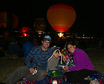 The Binette family during dawn patrol at the Great Reno Balloon Races held on Saturday, Sept. 8, 2018.