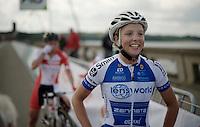 Kaat Hannes (BEL/Lensworld-Zannata) is the 2016 Belgian Elite Womens' Champion<br /> <br /> Belgian National Road Cycling Championships 2016<br /> Les Lacs de l'Eau d'Heure