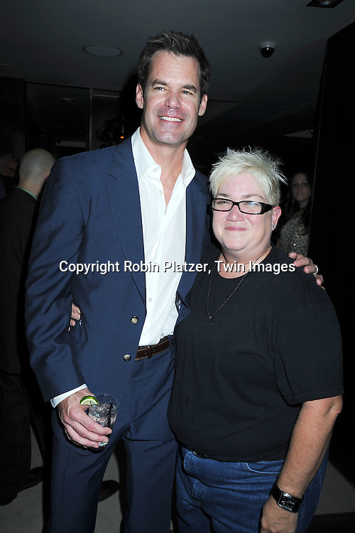 """Tuc Watkins and Lea Delaria at The opening night party of """"White's Lies"""" on May 6, 2010 at Inc Lounge in New York City. The show stars Betty Buckley, Tuc Watkins, Peter Scolari and Christy Carlson Romano."""