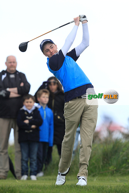 Kevin LeBlanc (The Island) on the 15th tee during Round 4 of the Irish Amateur Open Championship at Royal Dublin on Sunday 10th May 2015.<br /> Picture:  Thos Caffrey / www.golffile.ie