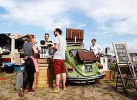 Culinair festival Het Hoofdgerecht op het Stenen Hoofd  aan het IJ in Amsterdam. De Koffiekever